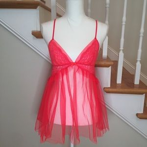 Victoria's Secret lace and tulle babydoll chemise